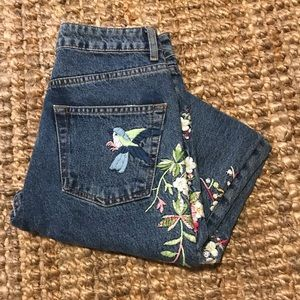 Topshop Jeans embroidered